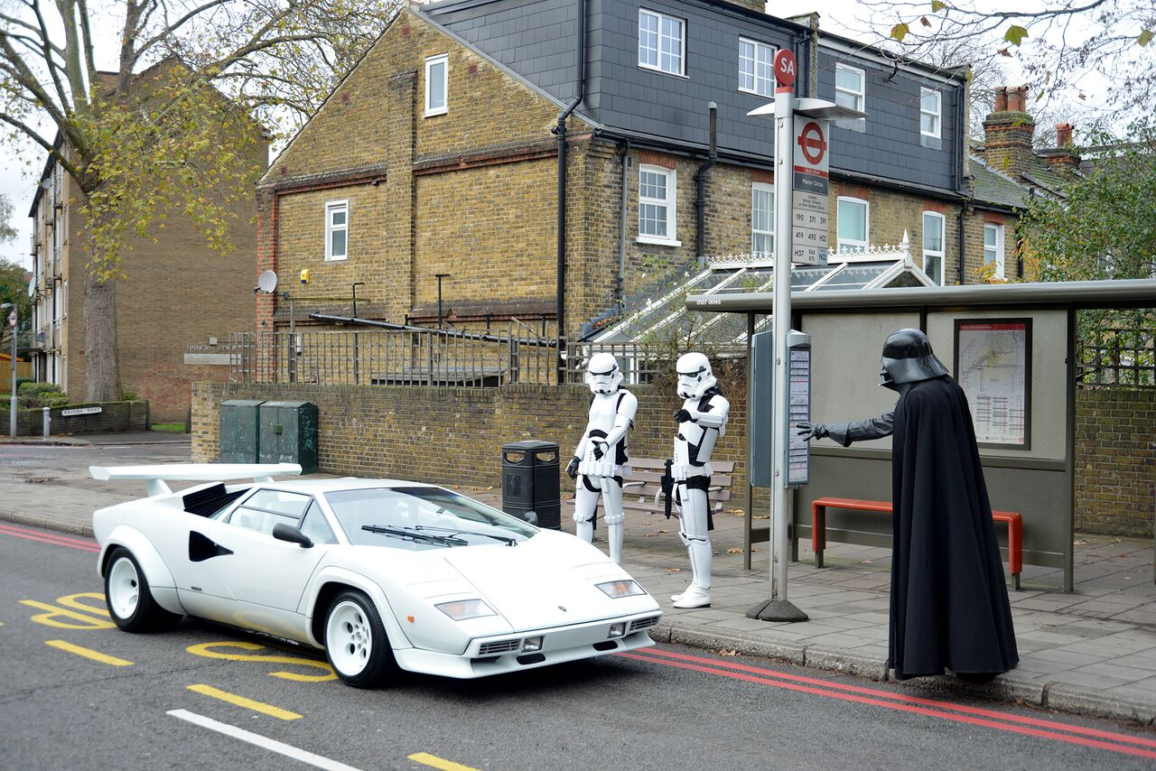 Using Darth Vader And Storm Troopers To Sell 1984 Lamborghini