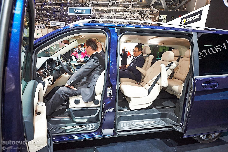 V Class Luxury Mpv Brings Its Huge Behind In Geneva