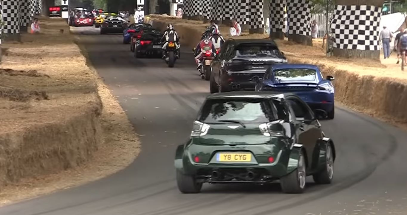 V8 Powered Aston Martin Cygnet Sounds Crazy At Goodwood Autoevolution