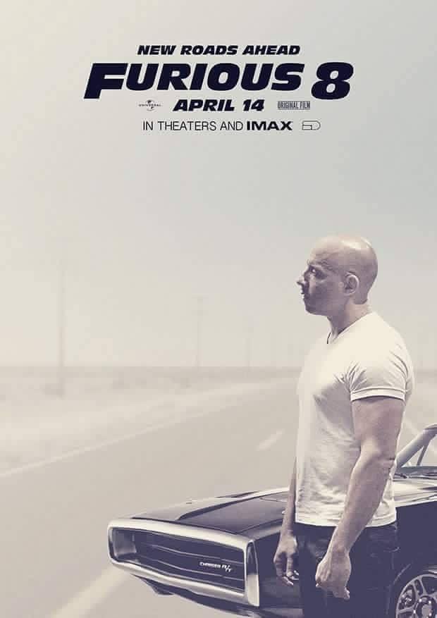 Vin Diesel Shares Fast 8 Poster On Facebook 1970 Dodge Charger R T