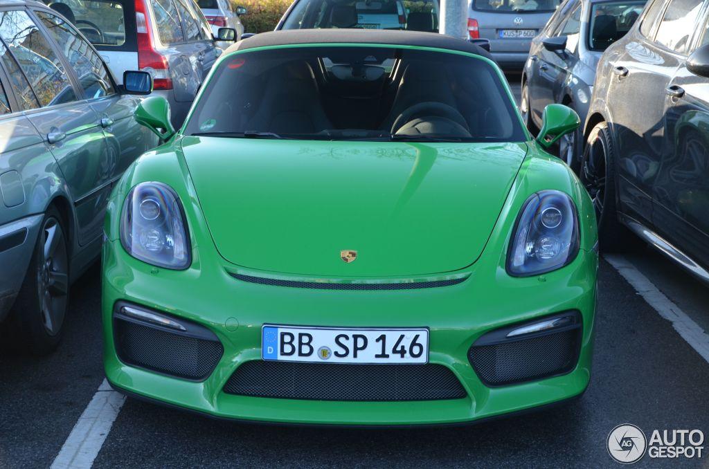 Viper Green 2016 Porsche Boxster Spyder Is A Nod To Retro