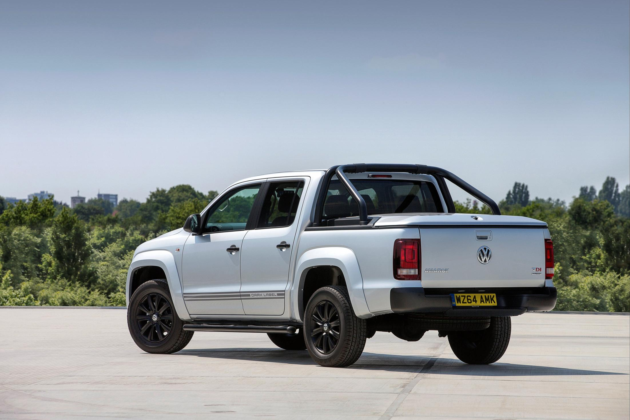 volkswagen amarok dark label priced in the uk from 26 125. Black Bedroom Furniture Sets. Home Design Ideas
