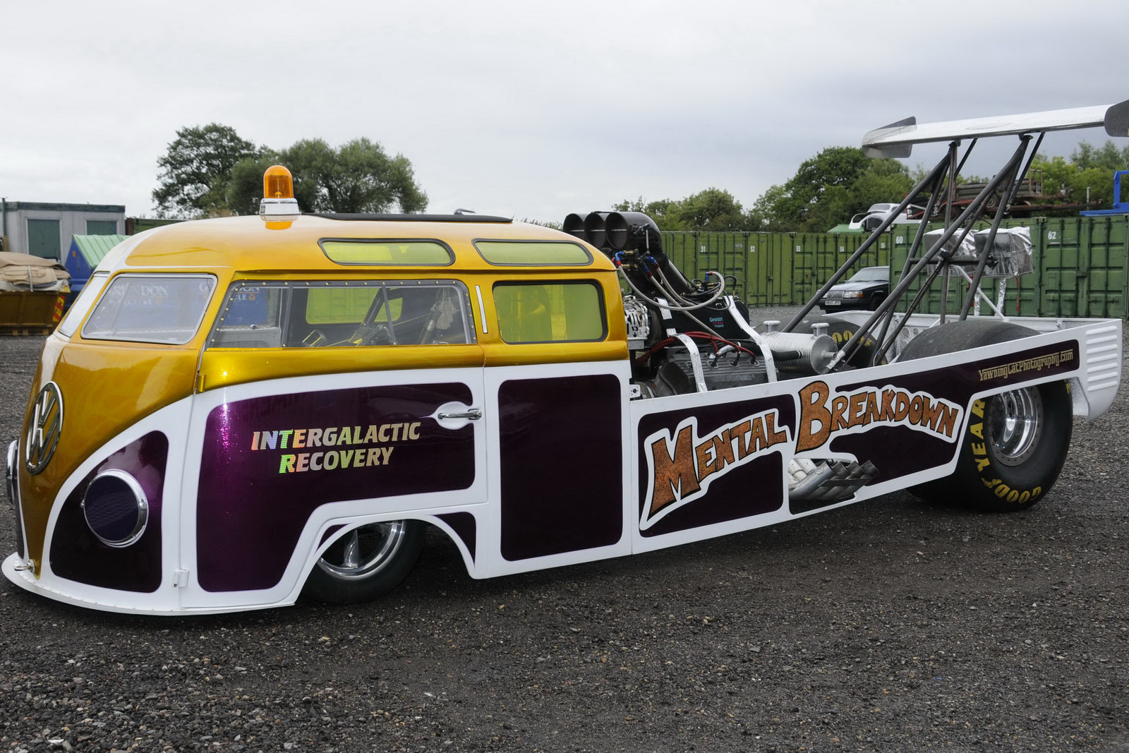 Volkswagen Bus Becomes Mental Breakdown Dragster
