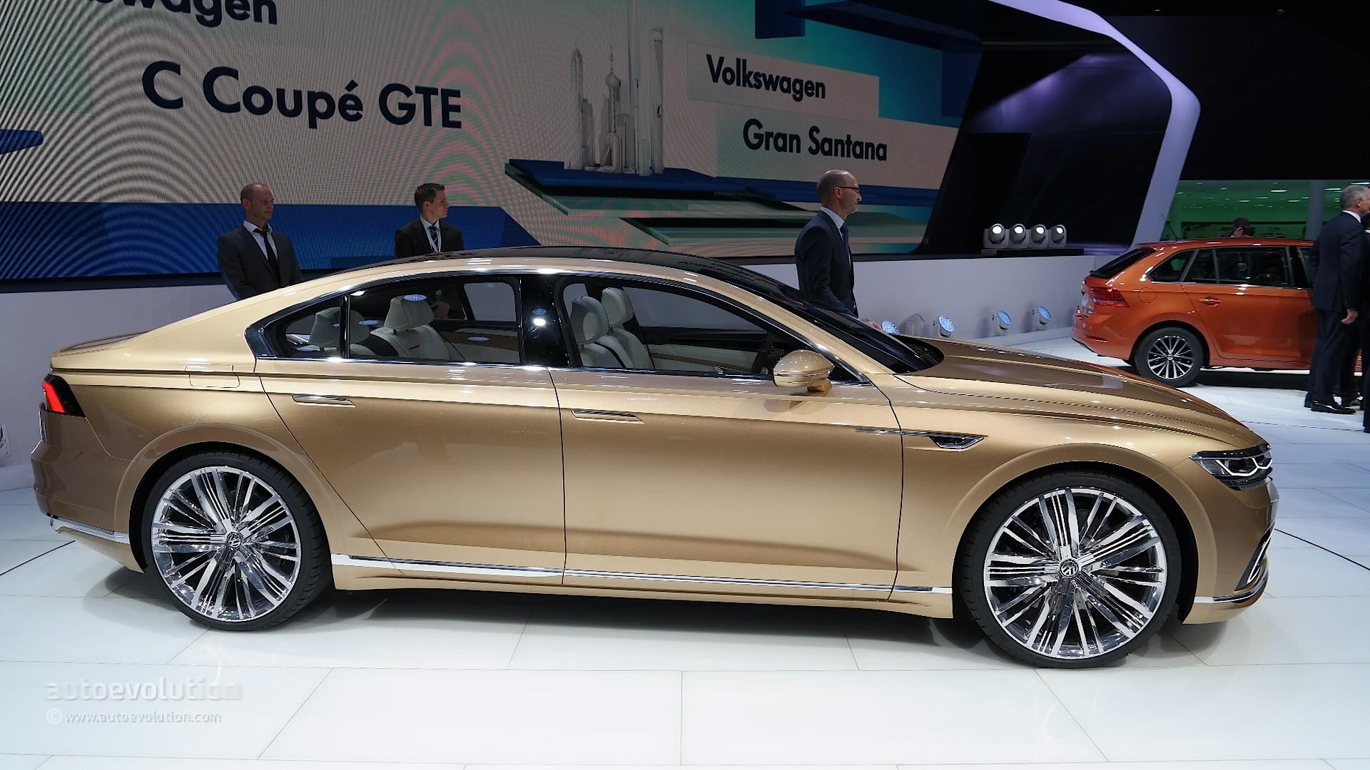 Volkswagen C Coupe GTE Previews New Sub-Phaeton Sedan at Shanghai 2015 ...