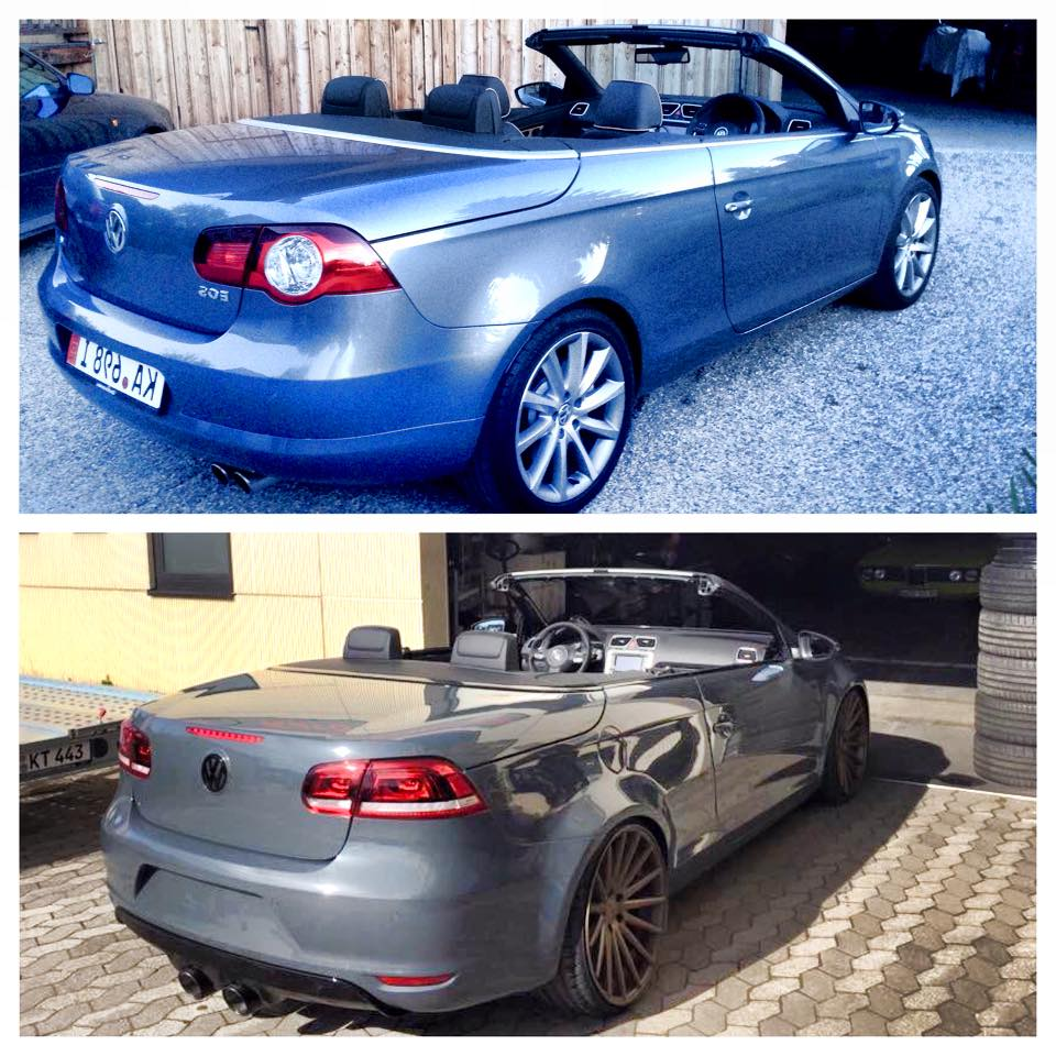 Volkswagen Eos With Scirocco Front And R36 Engine Coming