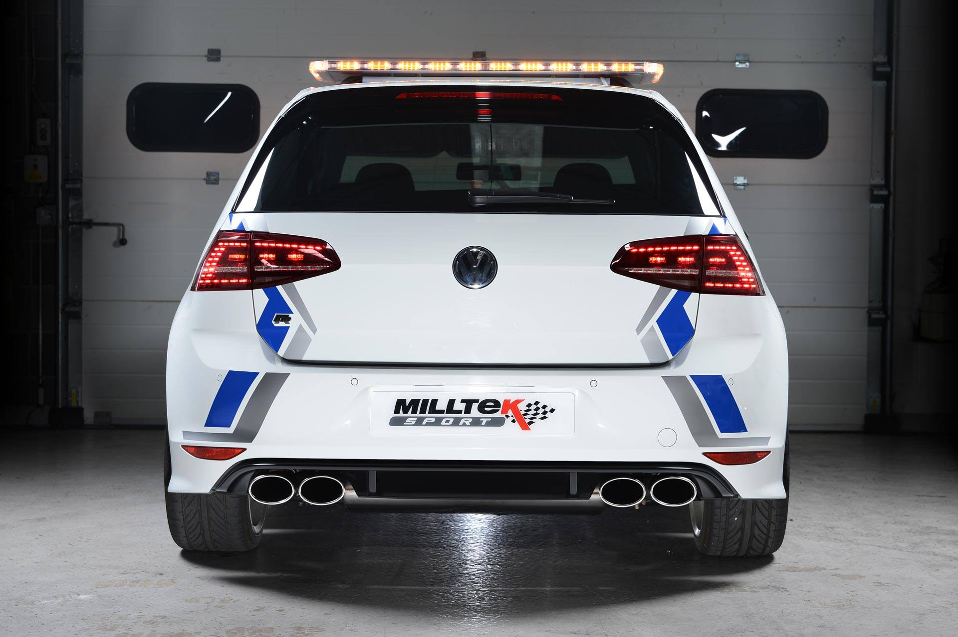 volkswagen golf 7 r gets sports exhaust system from milltek autoevolution. Black Bedroom Furniture Sets. Home Design Ideas