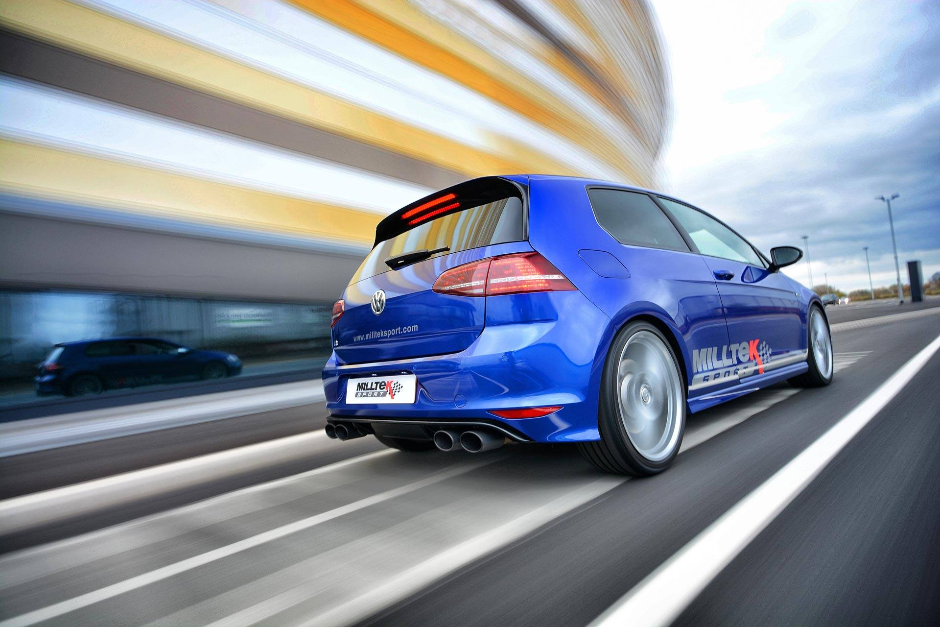 volkswagen golf 7 r gets sports exhaust system from milltek