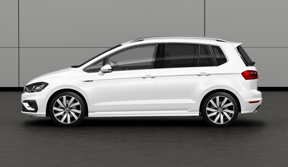 volkswagen golf sportsvan r line unveiled with exterior. Black Bedroom Furniture Sets. Home Design Ideas