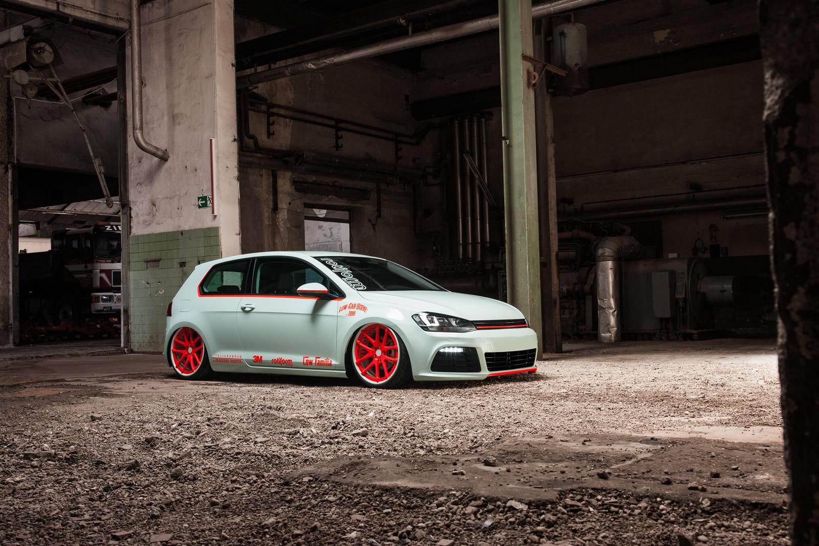 Volkswagen Golf Vii Gets Light Tron Treatment Video