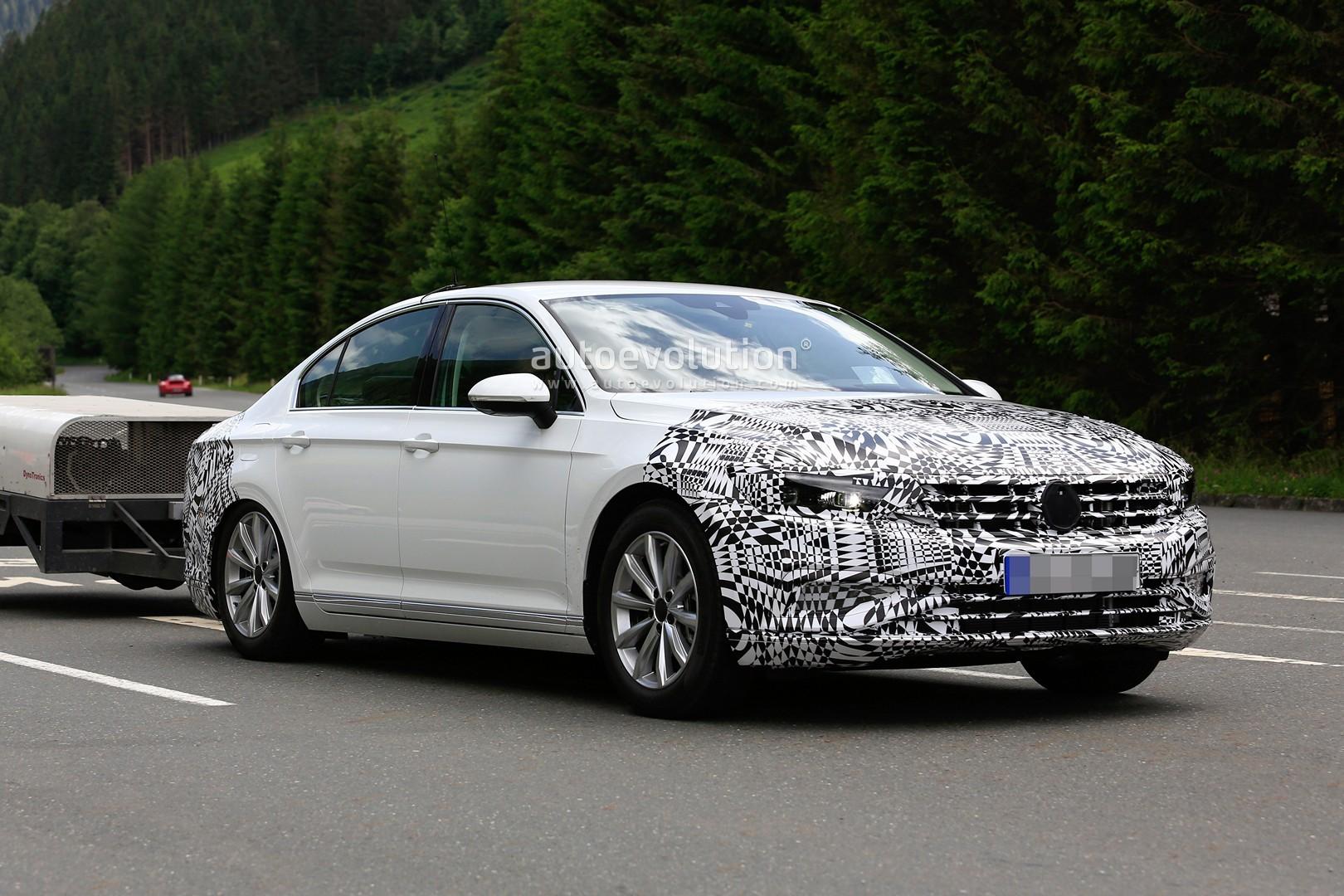 Spyshots: Volkswagen Passat 8.5 Facelift Starts Testing, Will Debut in 2018 - autoevolution