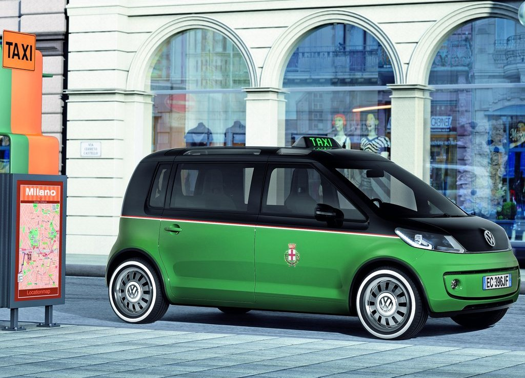volkswagen presents all electric taxi in hannover. Black Bedroom Furniture Sets. Home Design Ideas