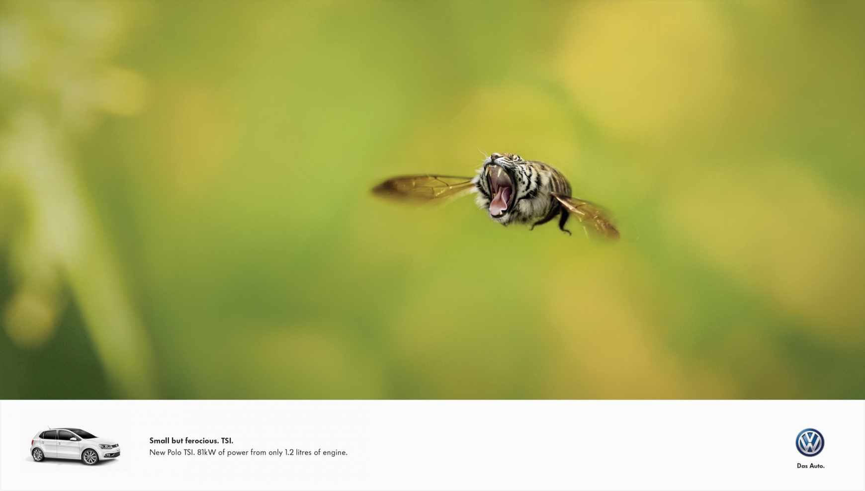 "Volkswagen Print Ads Show ""Small But Ferocious"" Hybrid Animals to Promote TSI Turbos - autoevolution"