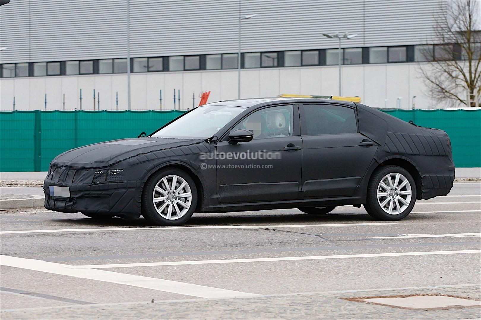 Volkswagen's Long-Wheelbase Plug-In Hybrid Magotan Spied ...