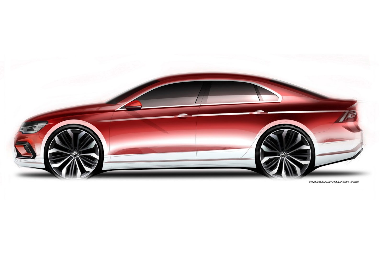 """Volkswagen's New """"Midsize Coupe"""" Concept Looks Like a ..."""