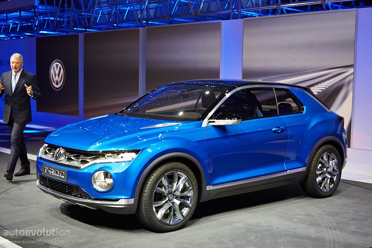 volkswagen t roc concept hints at future crossover live photos autoevolution. Black Bedroom Furniture Sets. Home Design Ideas