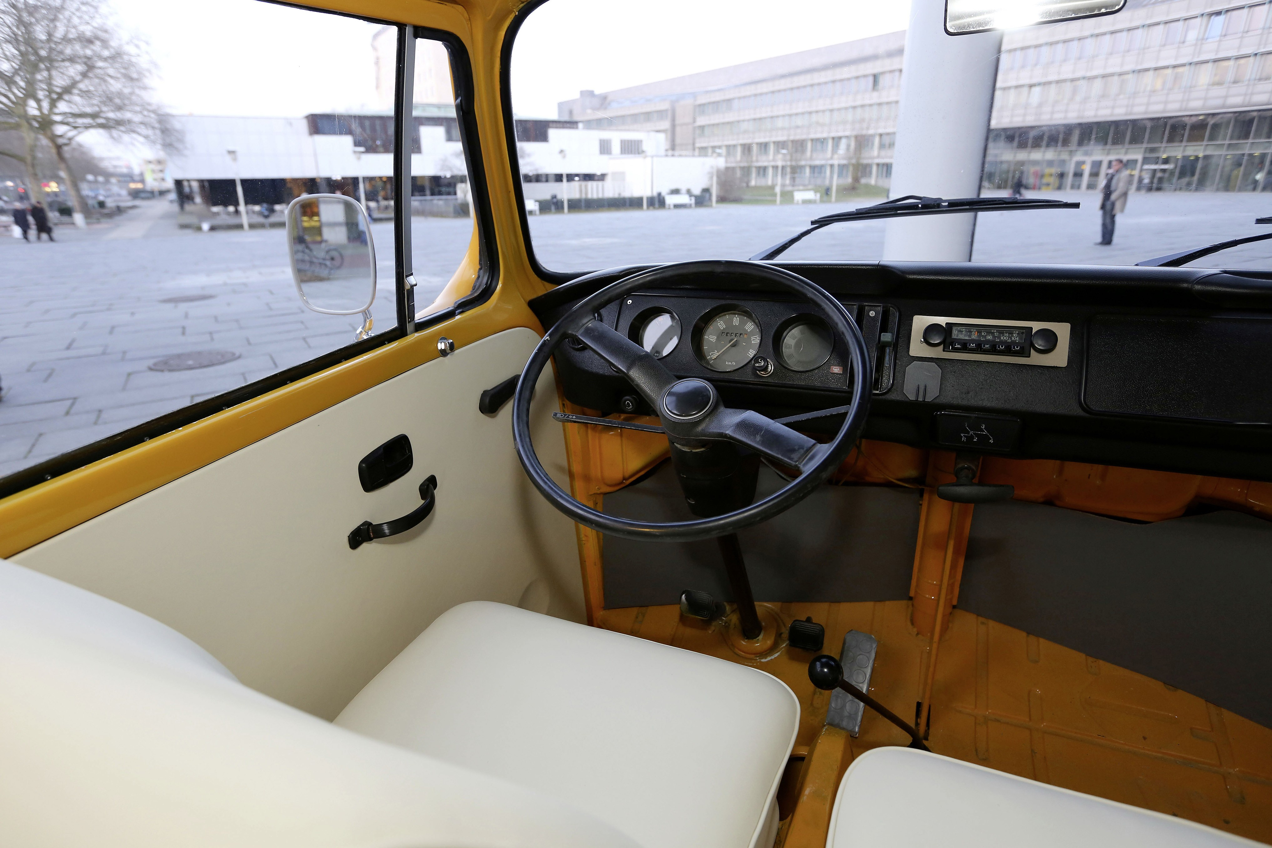 volkswagen t2 bus turned into currywurst on wheels