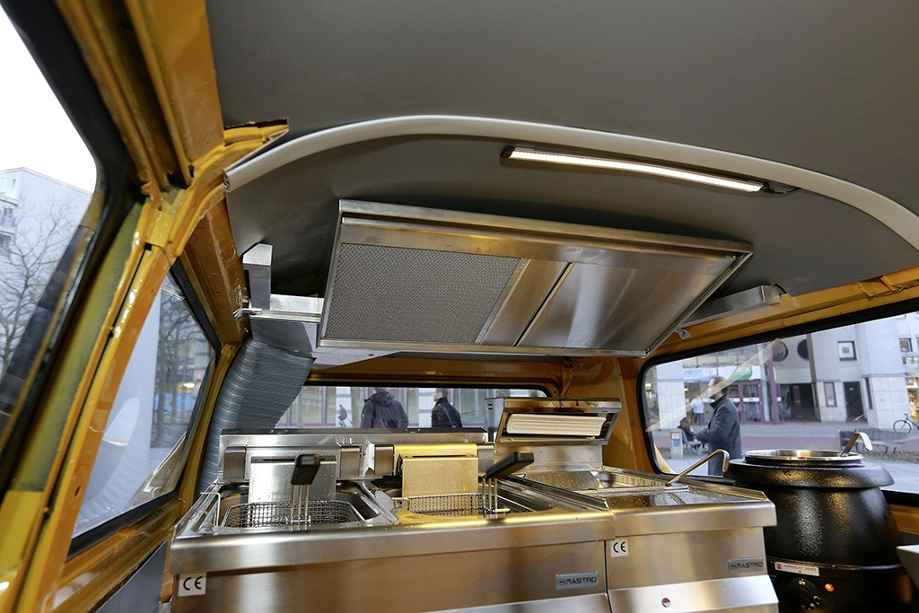 Volkswagen T2 Bus Turned into Currywurst on Wheels - autoevolution