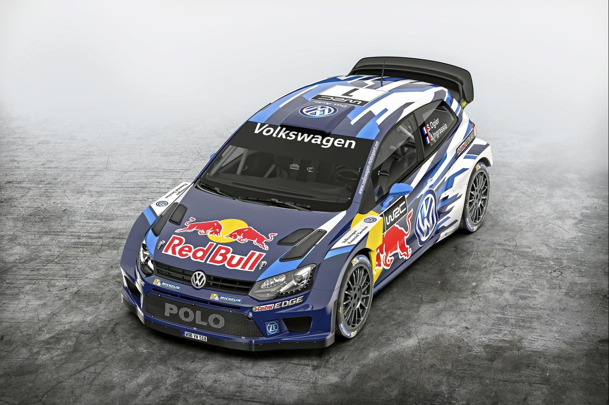 volkswagen unveils 2015 polo r wrc with dark blue livery. Black Bedroom Furniture Sets. Home Design Ideas