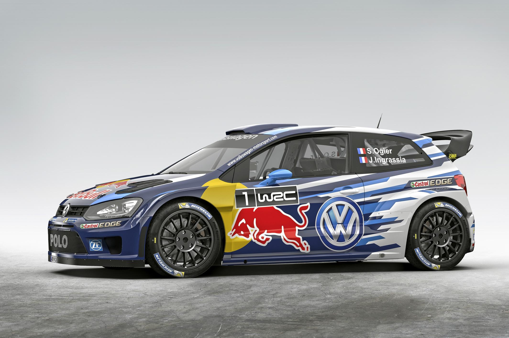 volkswagen unveils 2015 polo r wrc with dark blue livery autoevolution. Black Bedroom Furniture Sets. Home Design Ideas
