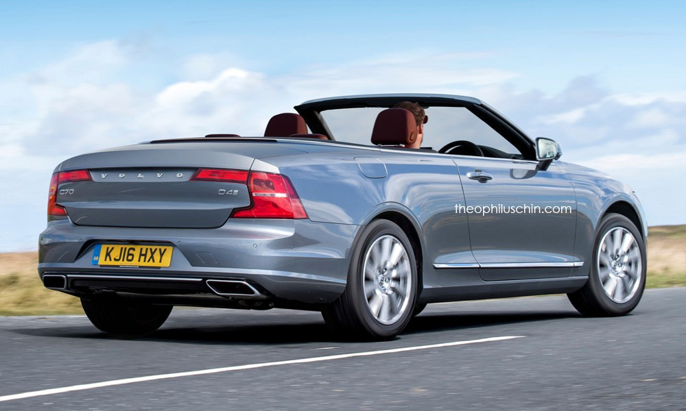 Volvo C70 Convertible Rendering Has Cloth Top And S90 Styling