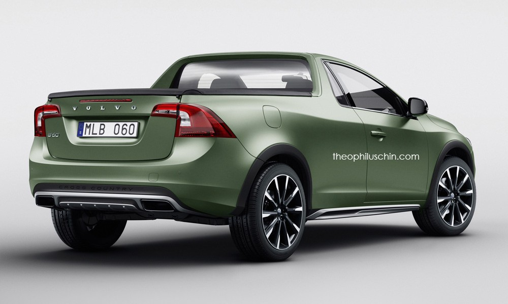 Volvo S60 2-Door Pickup Is a Stunning Idea That Will Never Happen - autoevolution