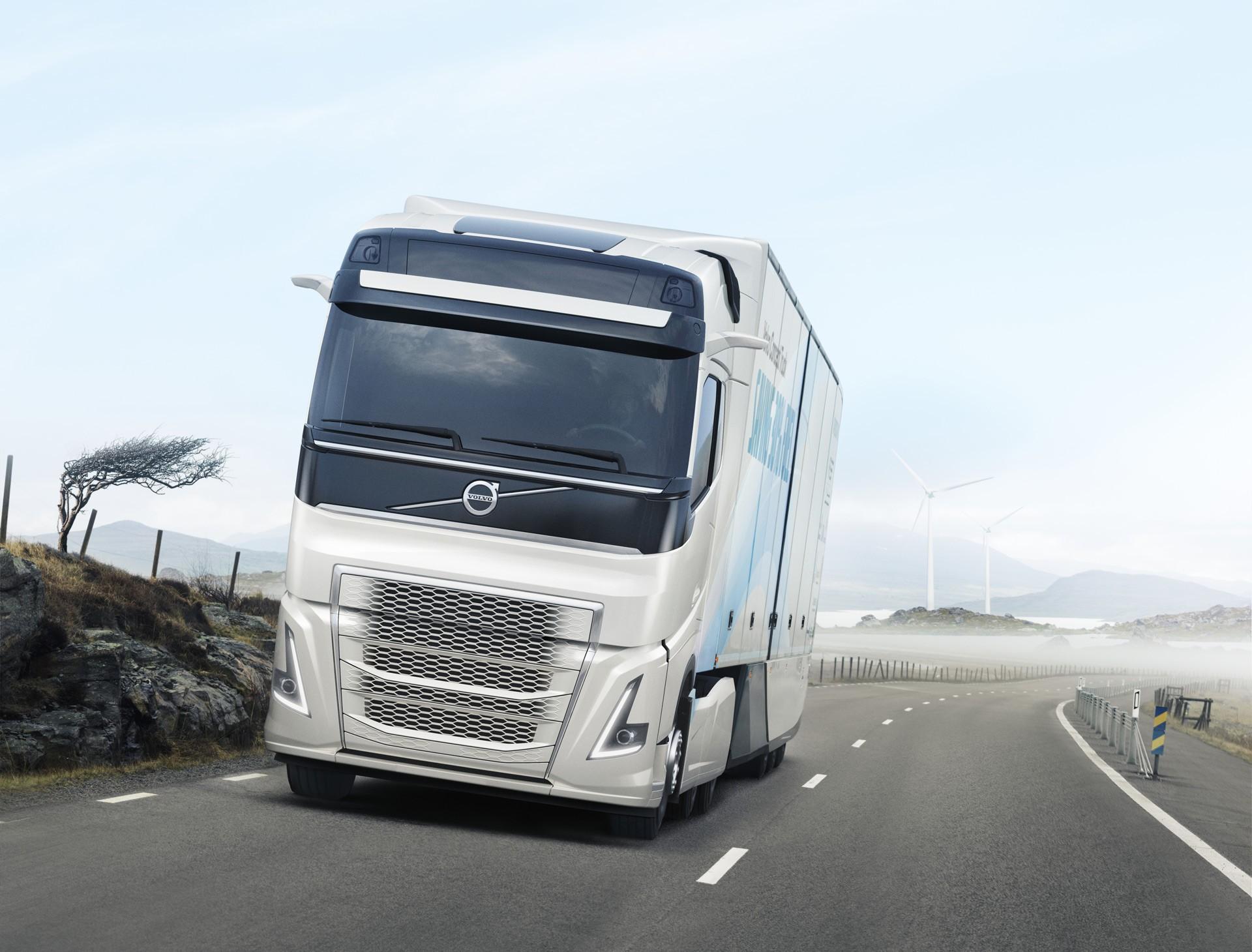 volvo trucks unveils hybrid powertrain for heavy duty truck it has an ev mode autoevolution. Black Bedroom Furniture Sets. Home Design Ideas