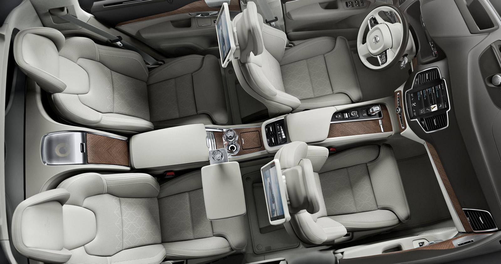 volvo unveils xc90 excellence 4 seat luxury suv for
