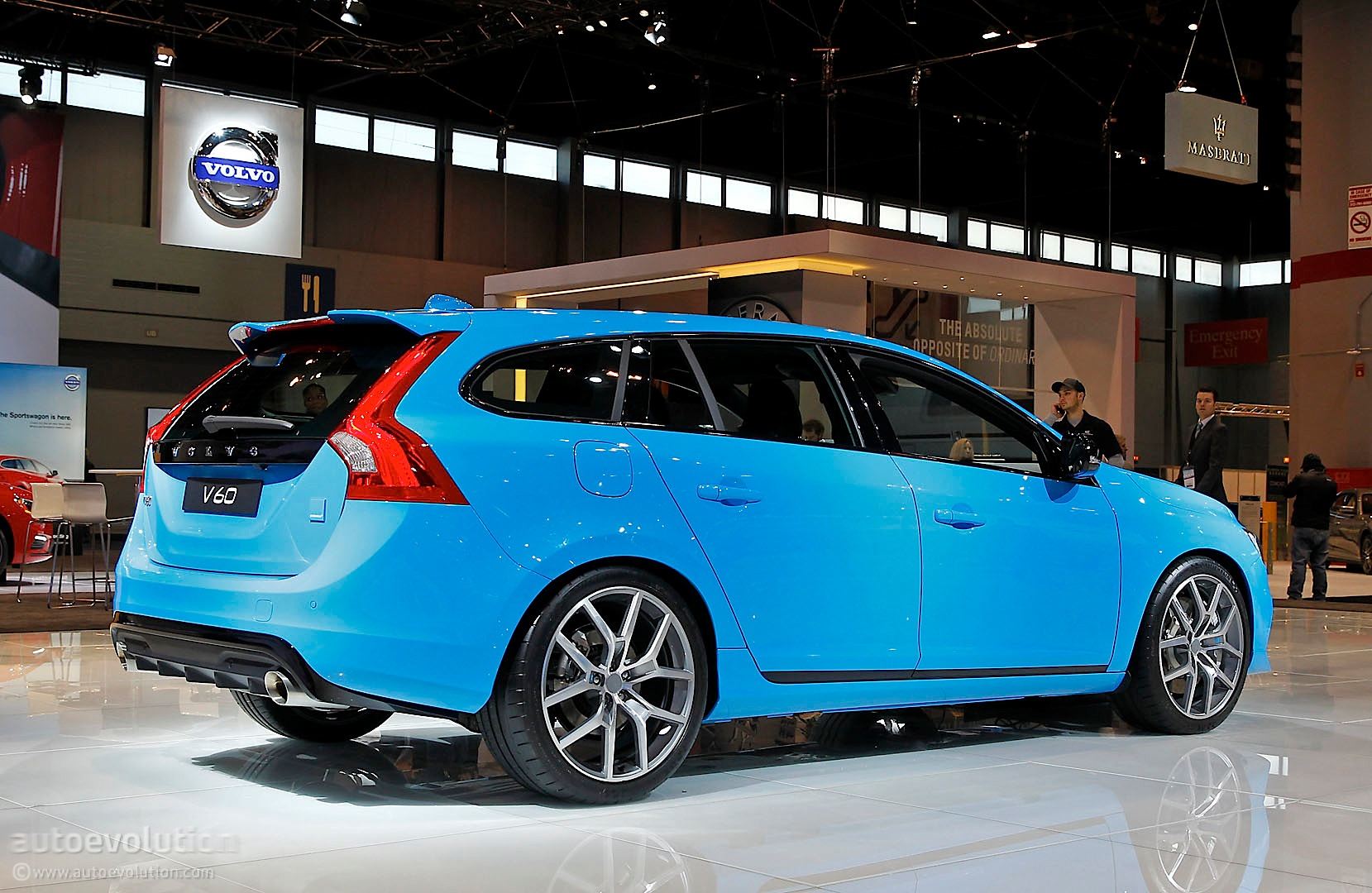 Volvo V60 Polestar Is A Blue Wagon In Chicago Live Photo