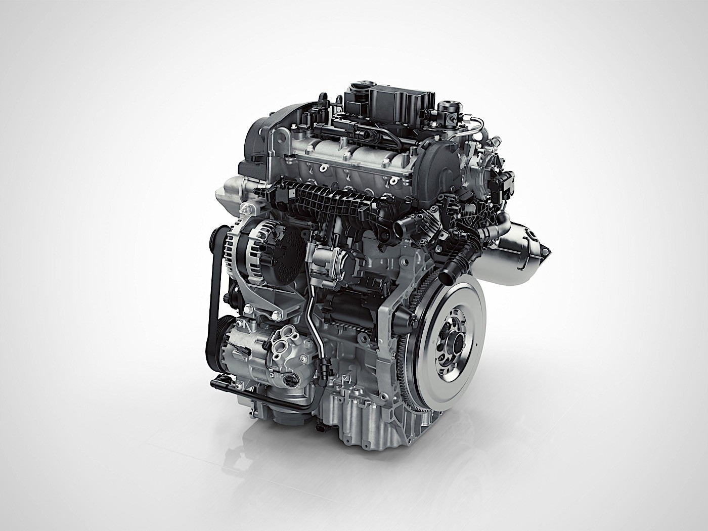 Volvo presented the first three-cylinder engine
