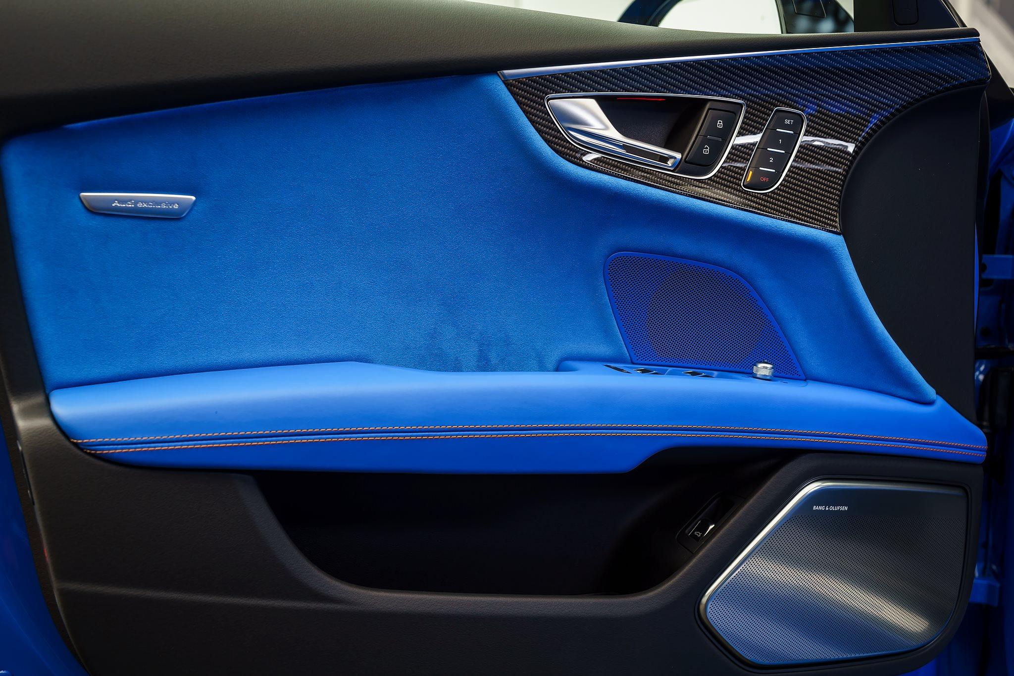 Voodoo Blue Audi Rs7 Has An Interior That Belongs In A
