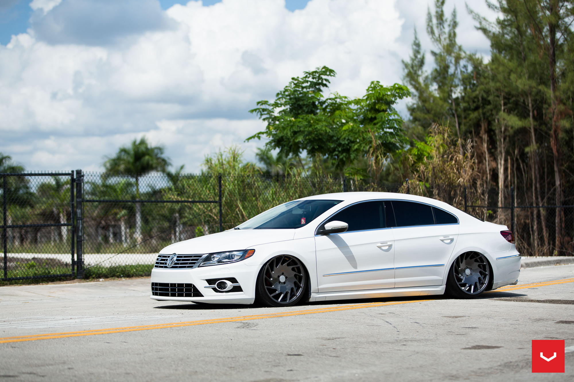 Volkswagen Cc R Line Gets Stanced On Vossen Vle 1 Wheels