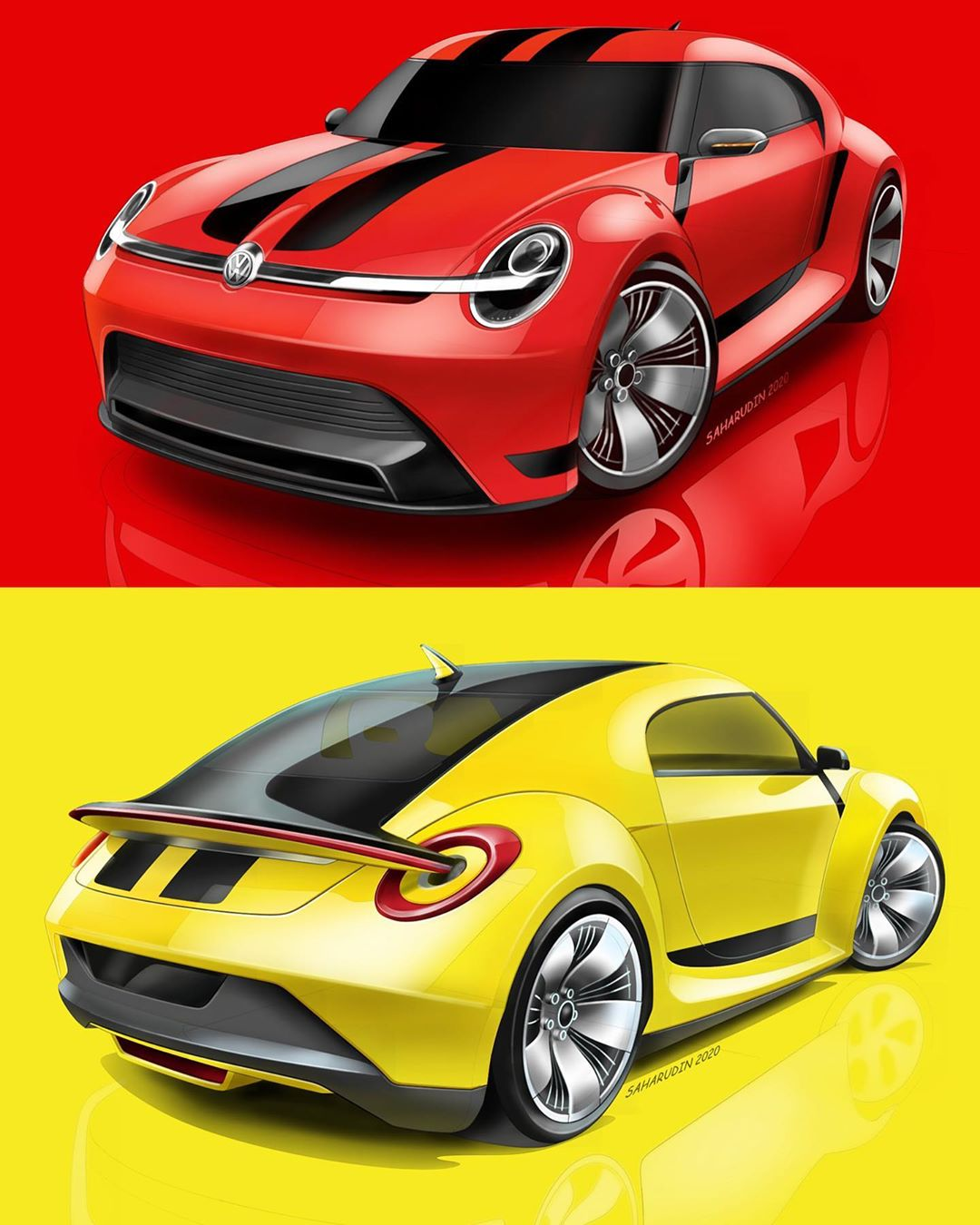 Vw Beetle Id Concept Is A Classic Turned Electric Autoevolution