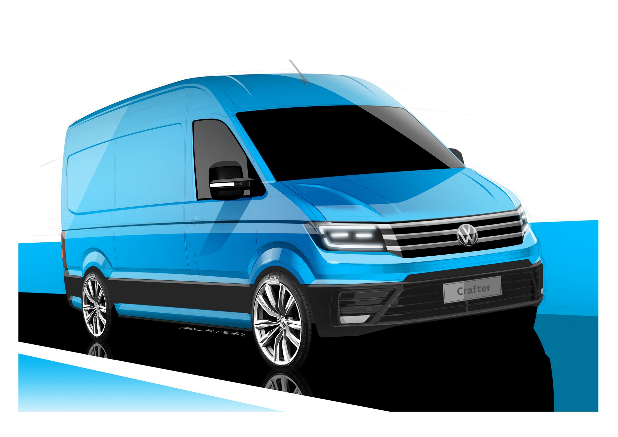 2017 Volkswagen Crafter Teased, Slated to Debut at IAA 2016