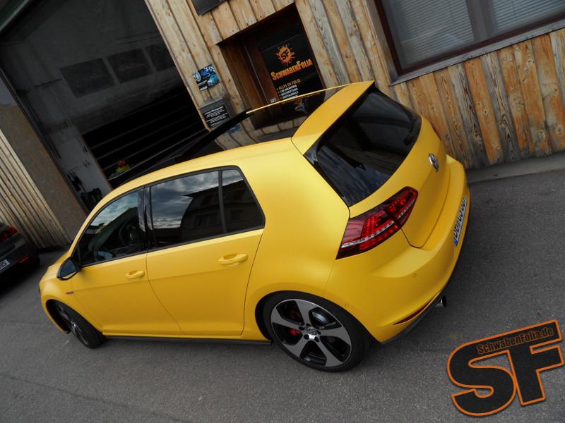 VW Golf 7 GTI Gets Sunflower Matte Metallic Wrap ...