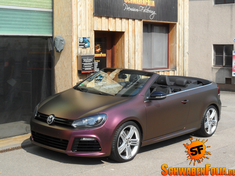 vw golf r cabrio is a sparkling berry autoevolution. Black Bedroom Furniture Sets. Home Design Ideas