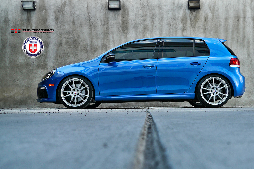 VW Golf R on HRE Wheels - autoevolution