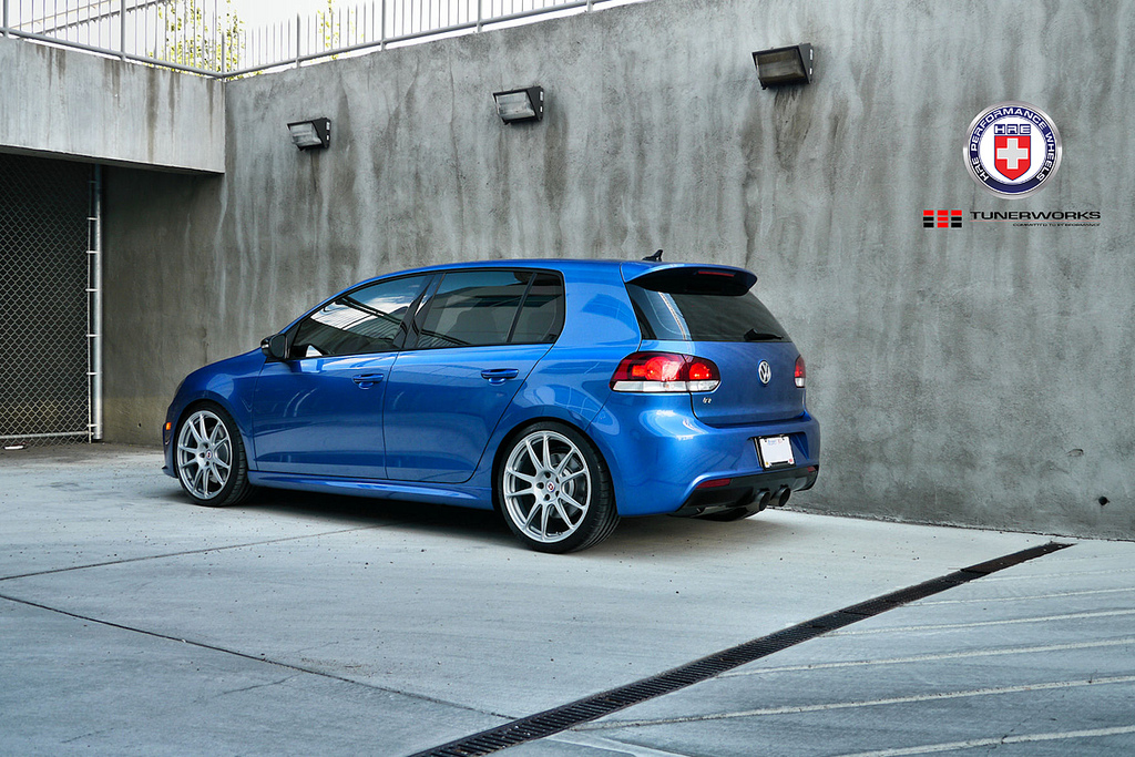 vw golf r on hre wheels autoevolution. Black Bedroom Furniture Sets. Home Design Ideas