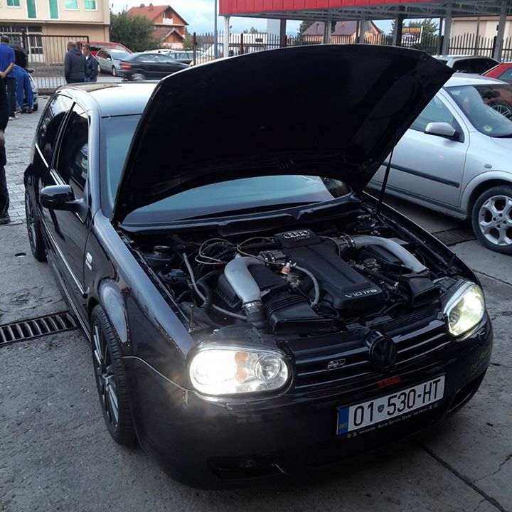 Vw Golf With Audi Rs Twin Turbo V10 Engine Has A Heavy