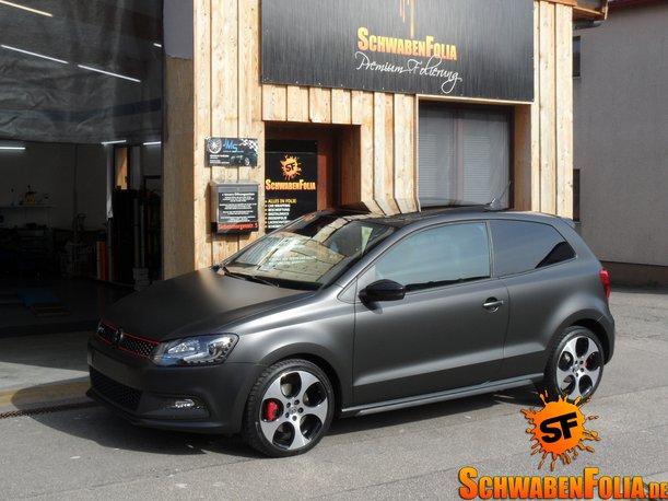 Used Volkswagen Gti >> VW Polo GTI Gets Diamond Matte Black Wrap - autoevolution