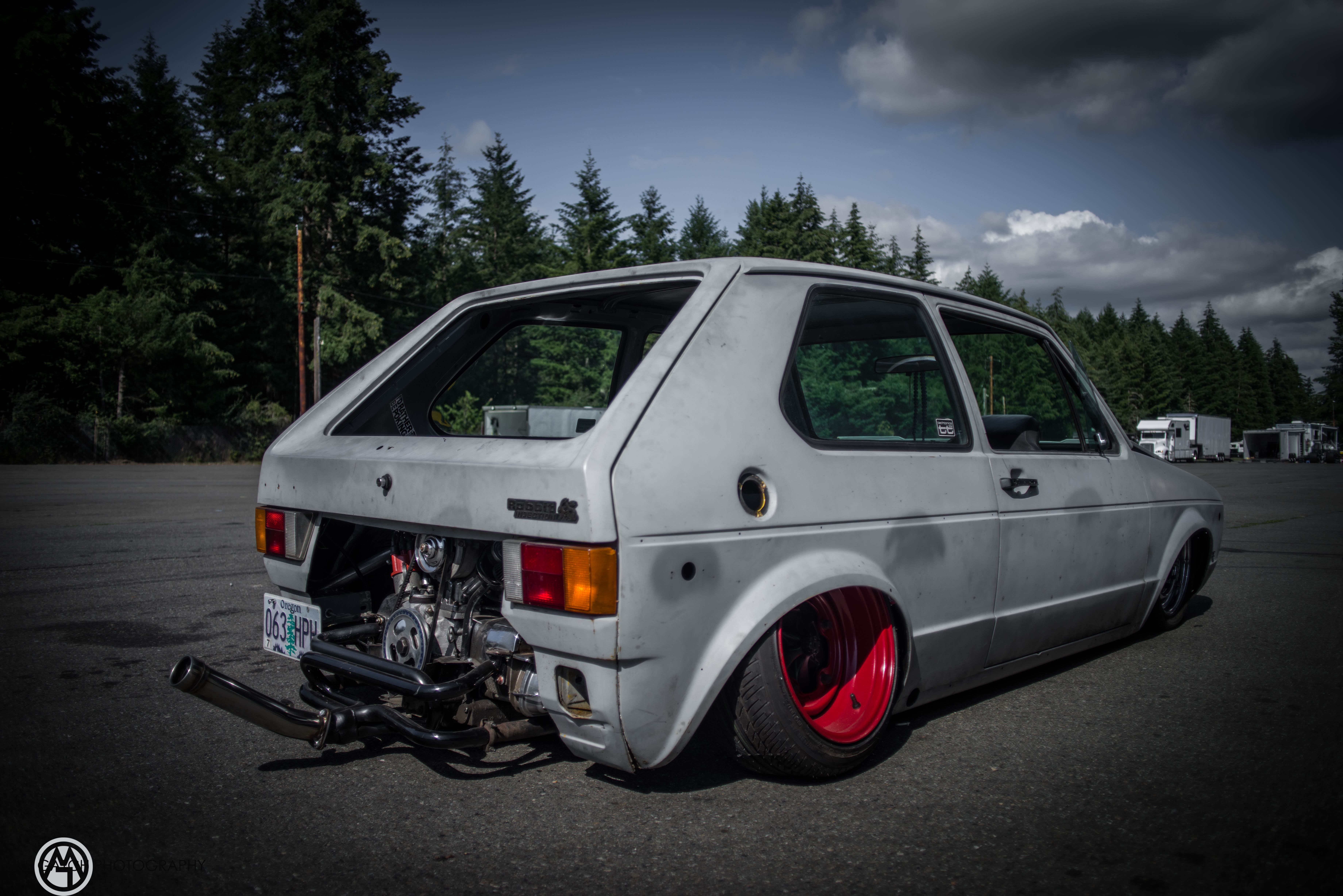 VW Rabbit (Golf) Mk I Sitting on Custom Beetle Frame Is a Rear-Engined Fetish - autoevolution