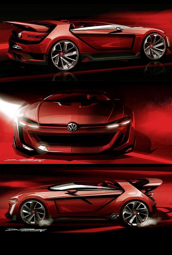 Разные наброски Volkswagen GTI Roadster Vision Gran Turismo