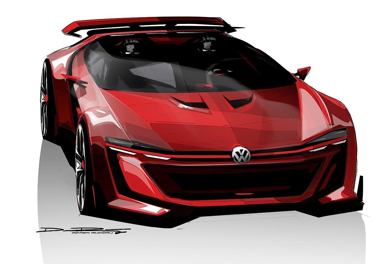 Наброски Volkswagen GTI Roadster Vision Gran Turismo