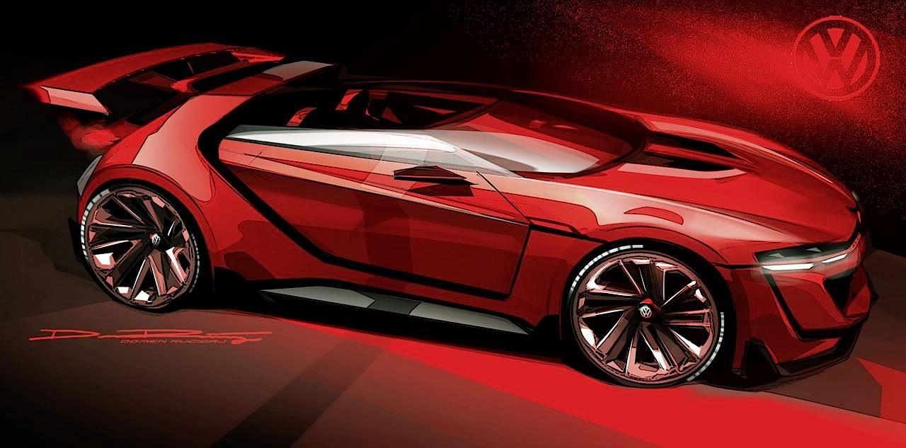 Скетчи Volkswagen GTI Roadster Vision Gran Turismo