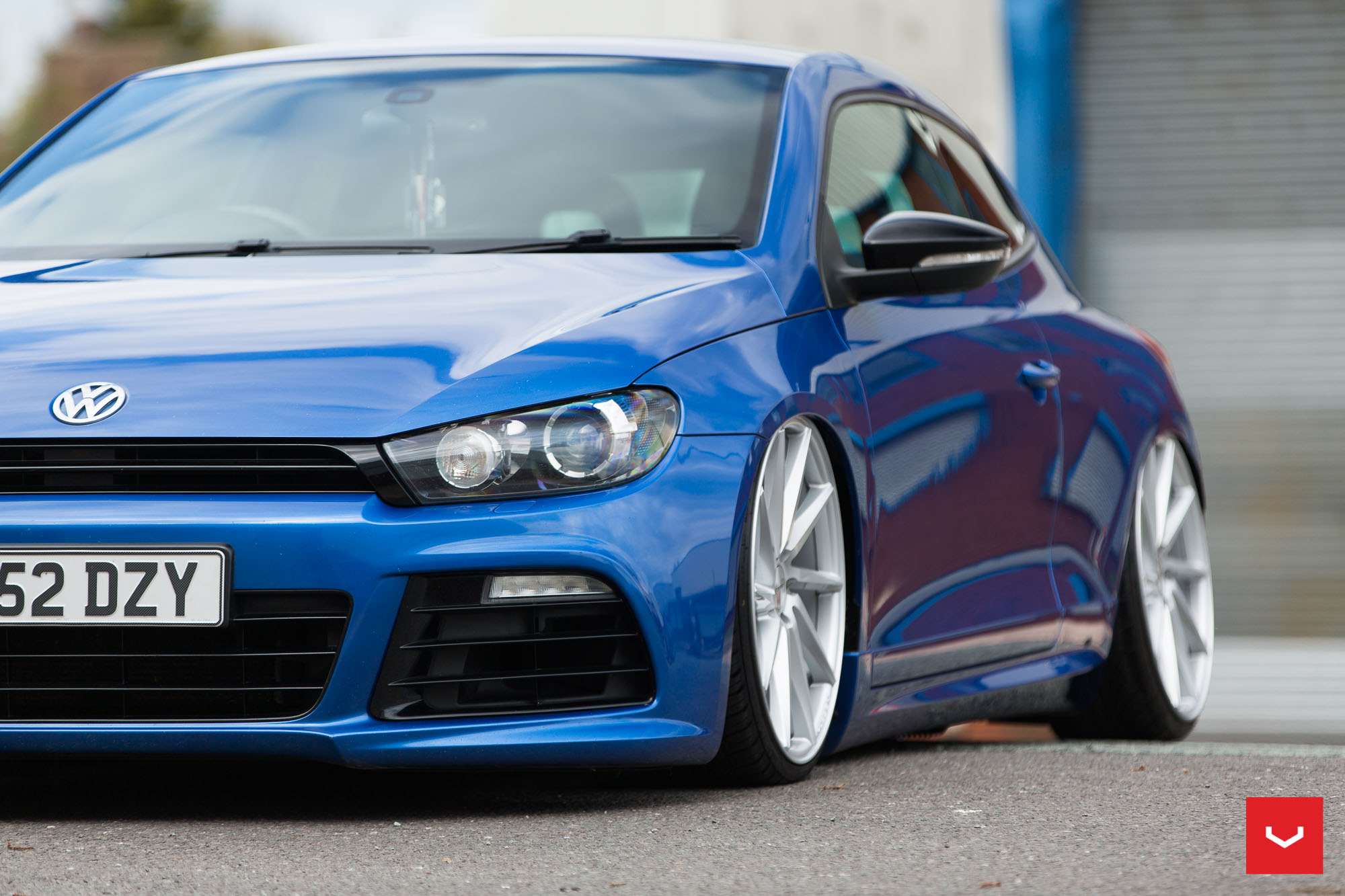 vw scirocco on vossen cvt and vle 1 wheels showcased in. Black Bedroom Furniture Sets. Home Design Ideas