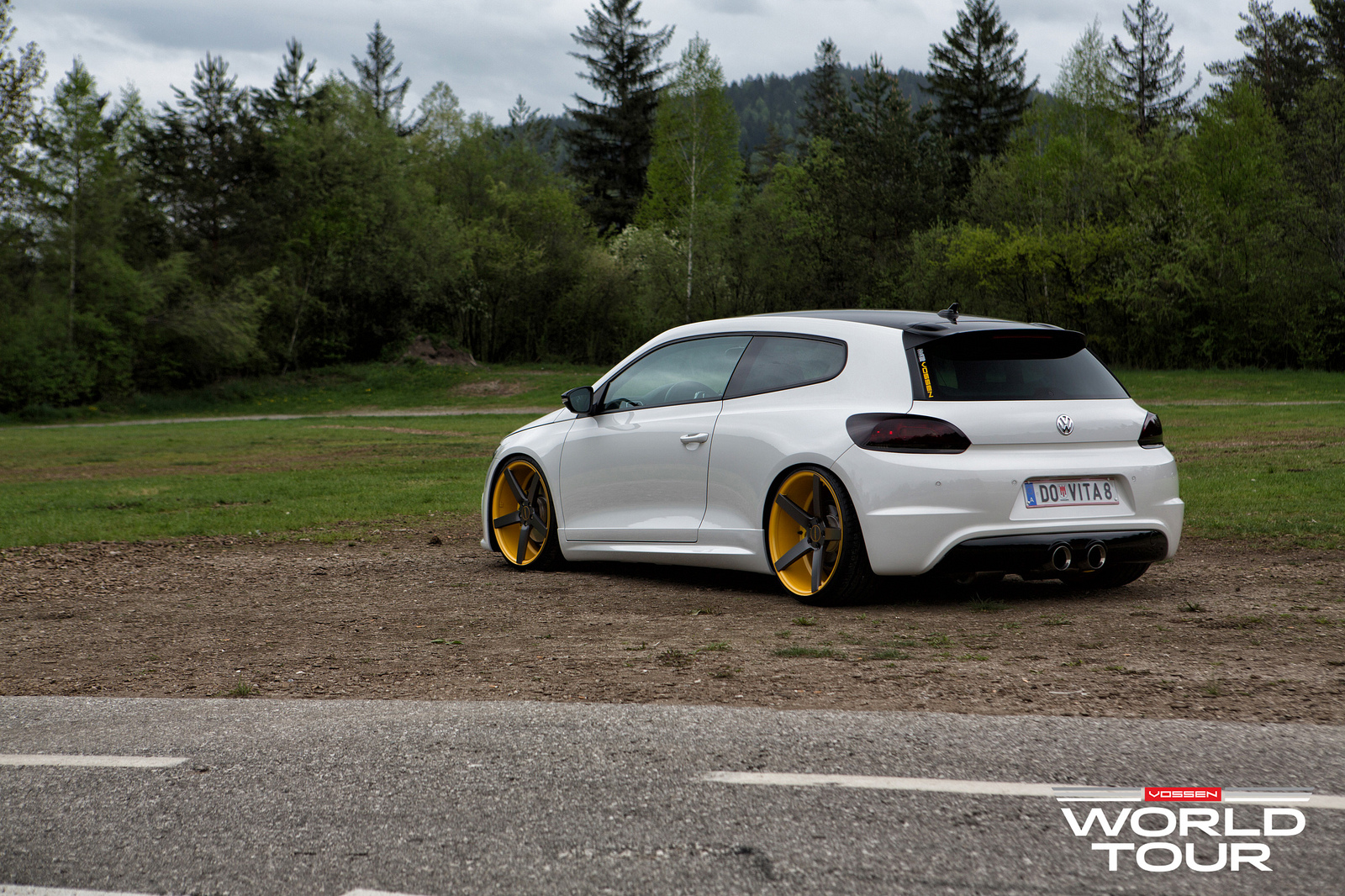 VW Scirocco R Slammed on Vossen Wheels - autoevolution