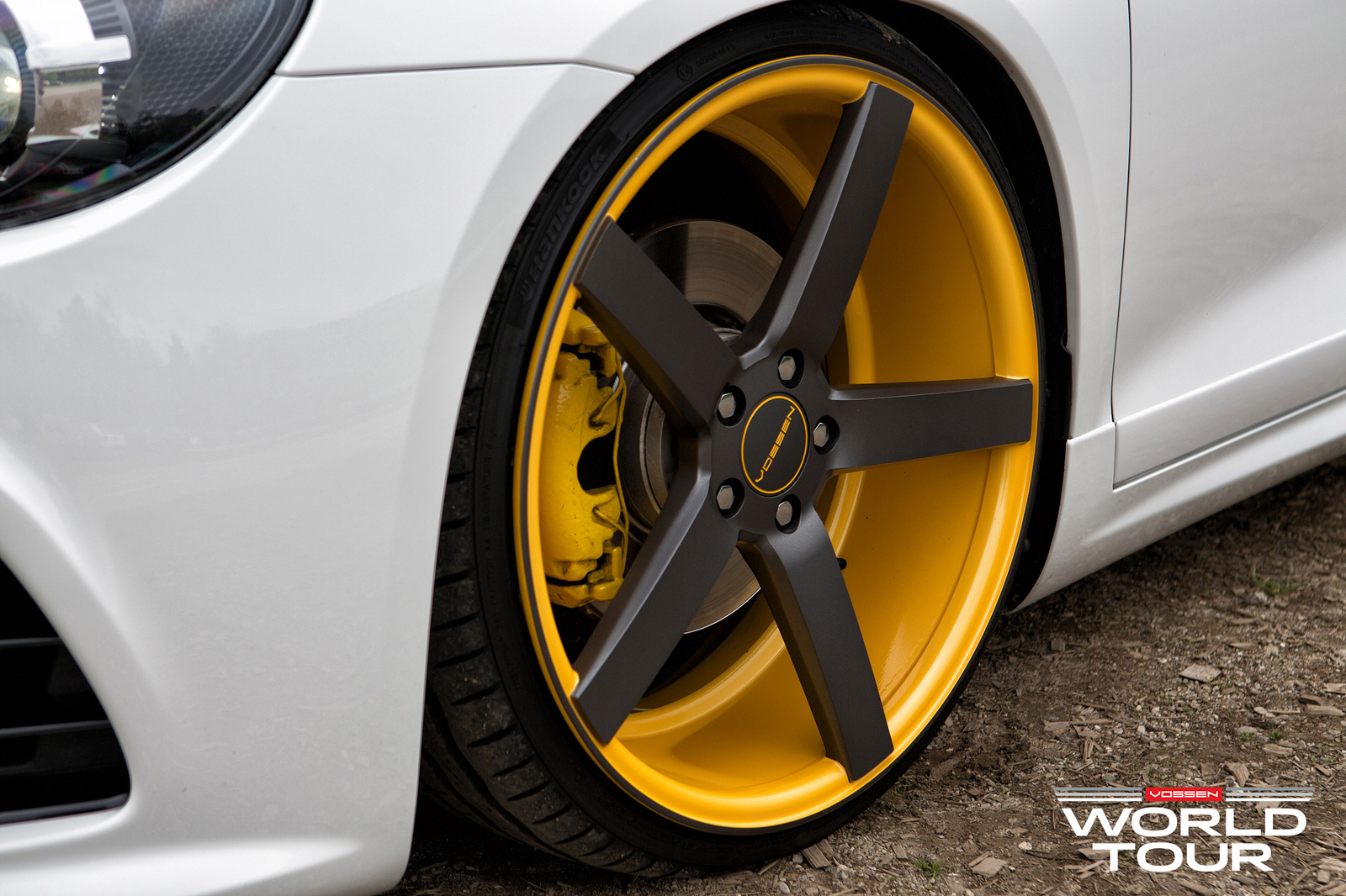 VW Scirocco R Slammed on Vossen Wheels - autoevolution