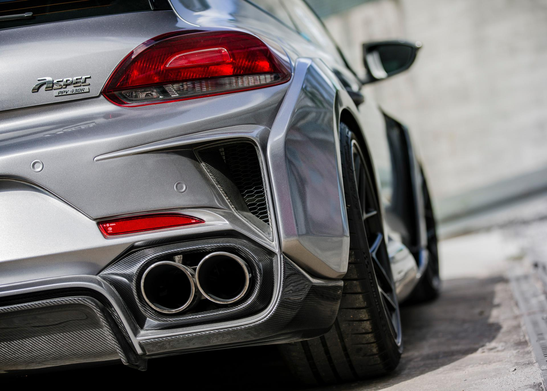 VW Scirocco R Widebody Monster by Aspec Comes from China - autoevolution