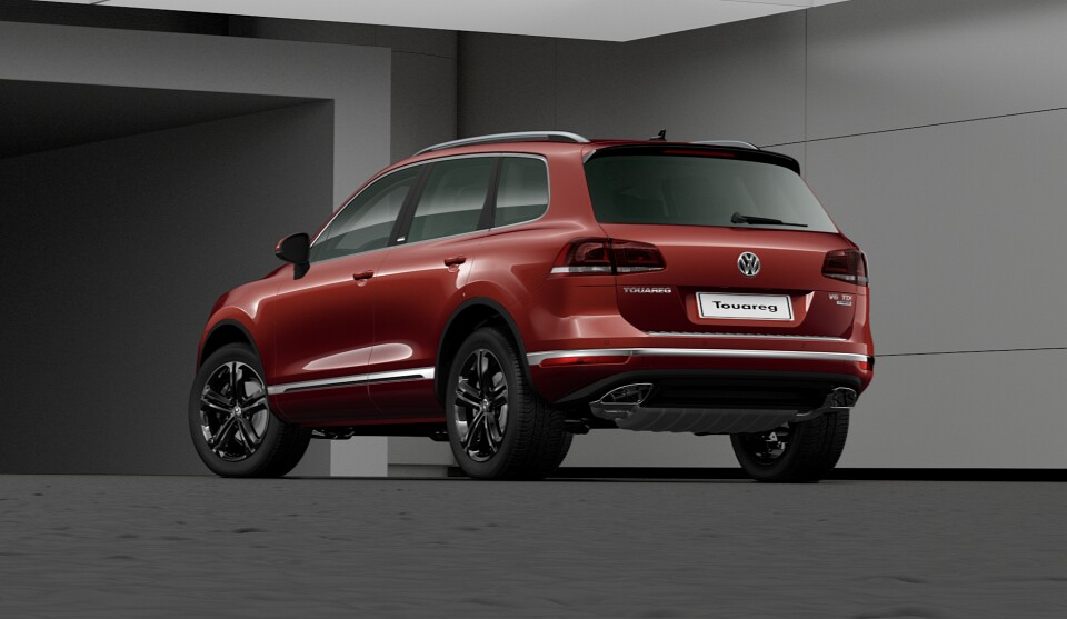 VW Touareg Executive Edition Combines French Wine Color with Black Accents - autoevolution