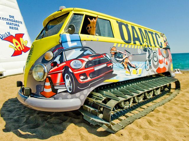 Vw Van Turned Into Tank Tracked Party House Autoevolution