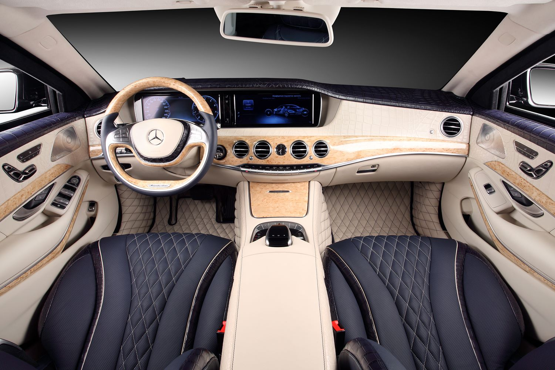 W222 mercedes s guard interior wrapped in crocodile for Mercedes s klasse interieur